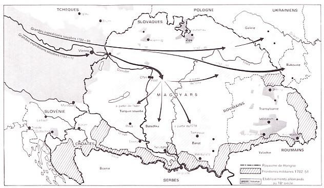 Migrations souabes au sein de l`Autriche-Hongrie